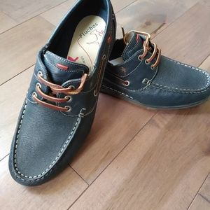 Men's Fluchos Shoes Boat shoe Leather Slip On 10